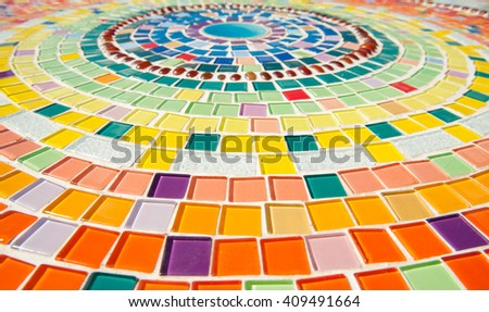 colorful ceramic pattern background