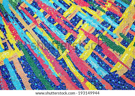 Colorful ceramic tile patterns - stock photo
