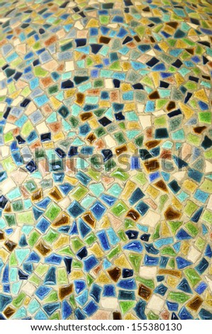 Colorful ceramic tiles background - stock photo