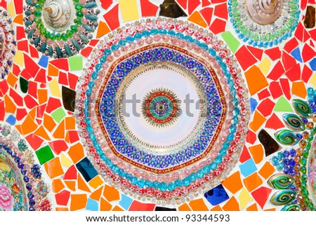Colorful Ceramic wall as Background - stock photo