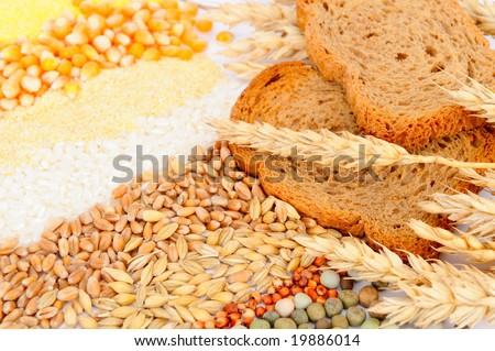 colorful cereal seeds and toasted bread