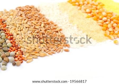 colorful cereal seeds background