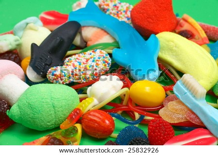 colorful chewing candies - stock photo