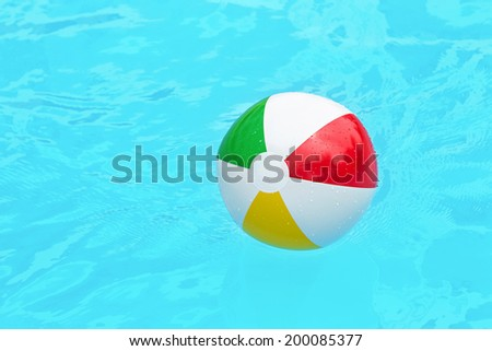 colorful children's ball pool water