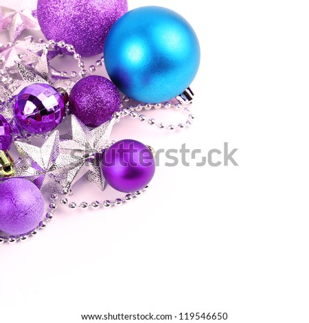 colorful christmas ball on isolated white background - stock photo