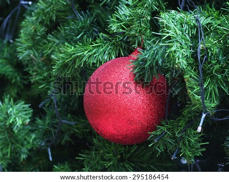 Colorful Christmas ball with decorations - stock photo