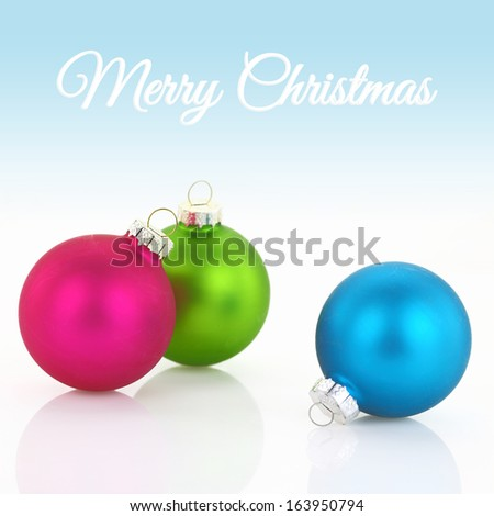 Colorful Christmas balls closeup