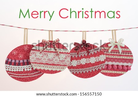 Colorful Christmas baubles on white background. - stock photo