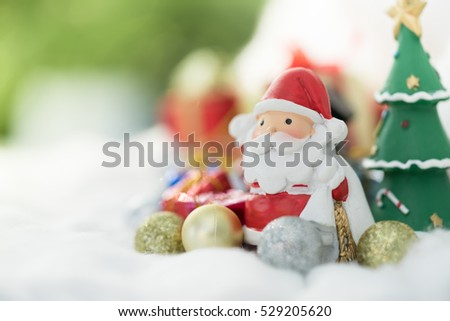 Colorful Christmas characters and decorations. Using as wallpaper or backgrounds.