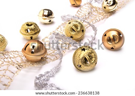 colorful Christmas decoration accessories for the holiday spirit - stock photo
