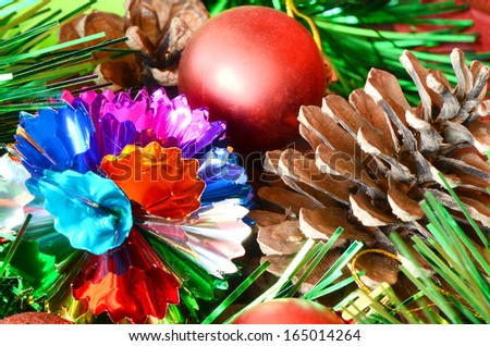 Colorful Christmas Trees Decorations.