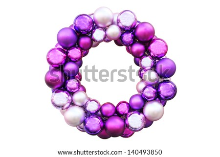 Colorful Christmas wreath - stock photo