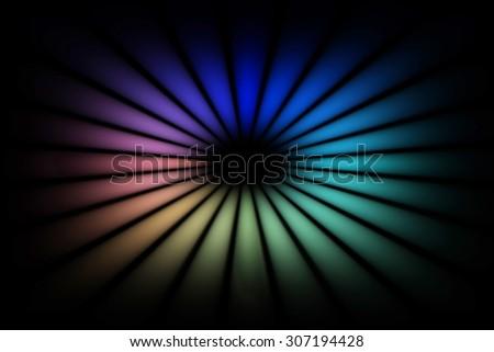 colorful circle on black background - stock photo