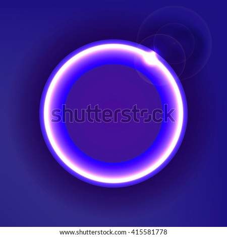 Colorful circle with glow, abstract background design, illustration