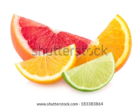 colorful citrus slices - stock photo