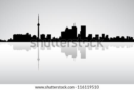 Colorful City Toronto panorama, - stock photo