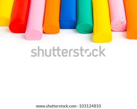Colorful clay sticks - stock photo