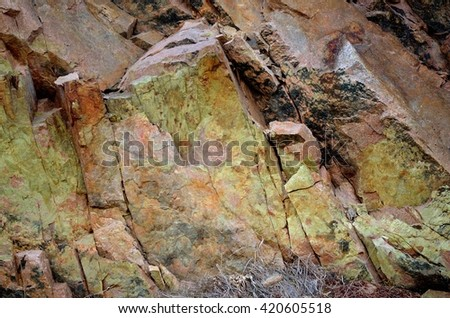 colorful cliff rock