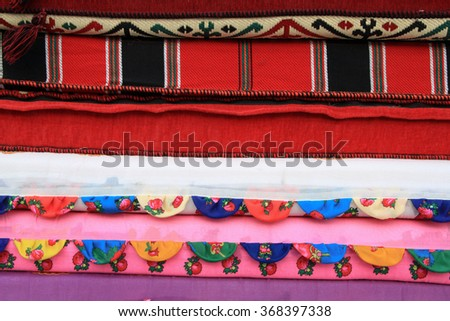 Colorful Cloth  - stock photo