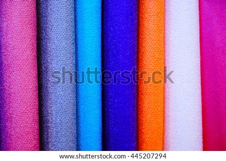 colorful cloth background,select focus with shallow depth of field:ideal use for background. - stock photo