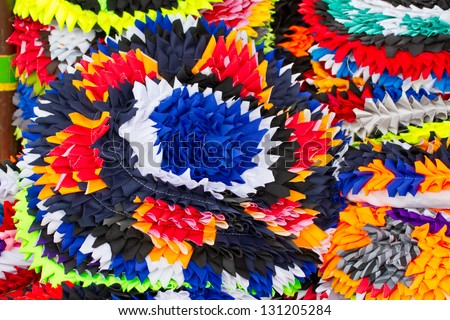 Colorful cloth to wipe your feet - stock photo
