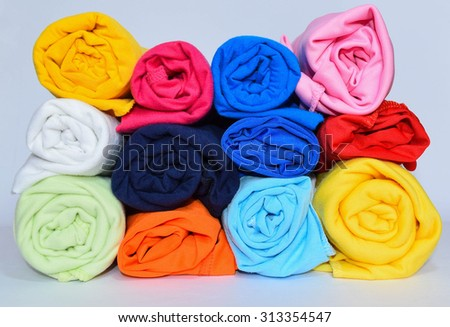 colorful clothes roll