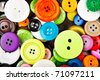 colorful clothing buttons - stock photo