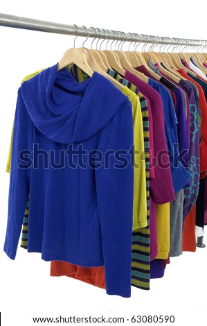 colorful clothing on hanger