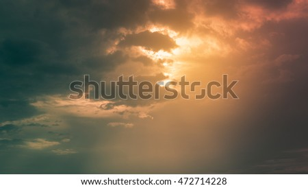 Colorful cloudy sky background, twilight and cloudy sky background