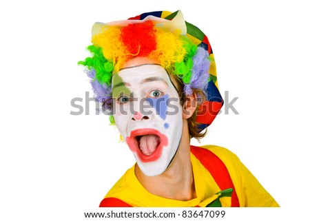 Colorful Clown isolated on white background