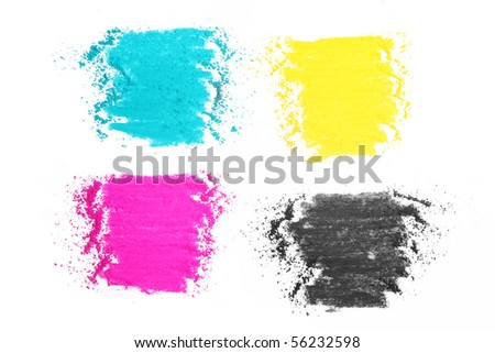 colorful cmyk texture made with pastel stick