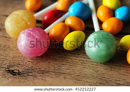 colorful coated candy