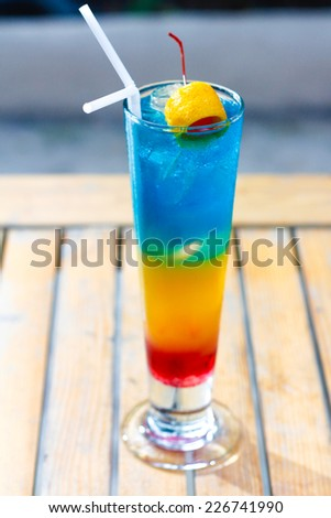 Colorful Cocktail - stock photo