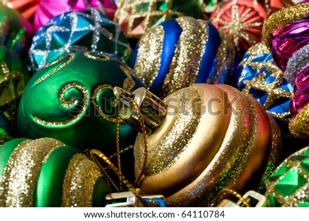 Colorful collection of Christmas Balls