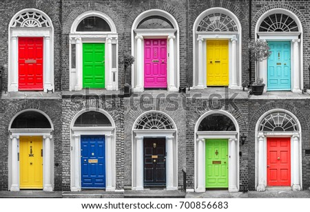 Colorful collection of doors in Dublin Ireland & Colorful Collection Doors Dublin Ireland Stock Photo (Royalty Free ...