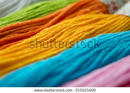 colorful / colourfully of knitting cotton wool / yarn