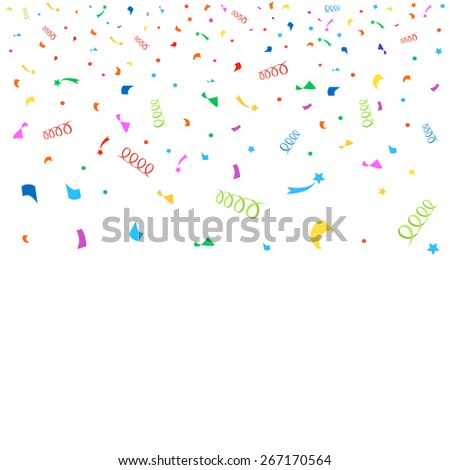 Colorful confetti and carnival background  illustration