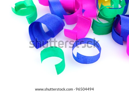 colorful confetti isolated on white - stock photo
