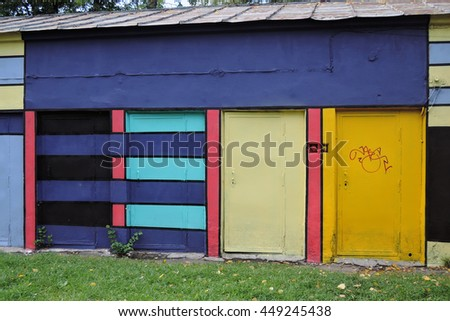 Colorful construction. - stock photo