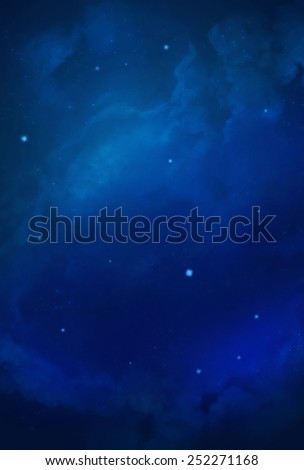 Colorful Cosmos - Blue - stock photo