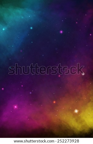 Colorful Cosmos - Varicolored - stock photo