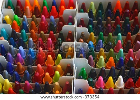 Colorful Crayon Background - stock photo