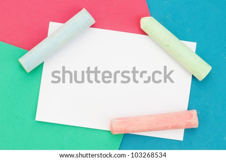 colorful crayon card design wallpaper background