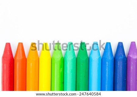Colorful crayons - stock photo