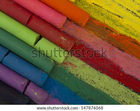 colorful crayons background - stock photo