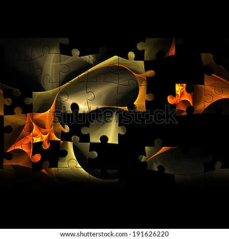 Colorful creative mosaic background with fractal puzzle for art and entertainment