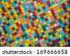 Colorful cross block wall pattern1 - stock