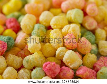 colorful crunch corn snackes - stock photo