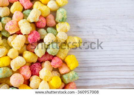 colorful crunch corn snacks - stock photo