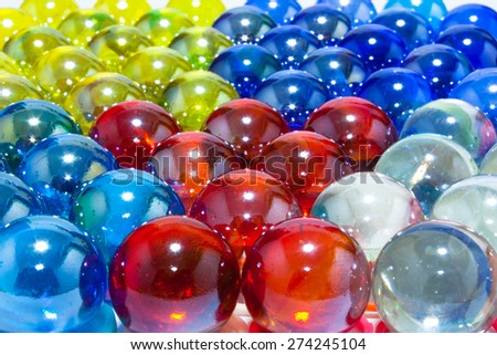 Colorful Crystal Balls Well Arranged Background
